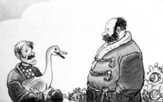 Барин и гусак