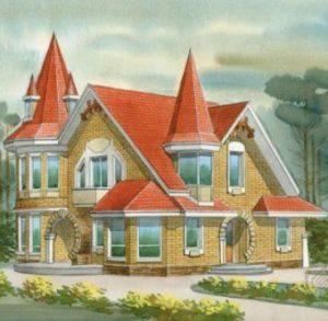 Большой дом из одного кирпичика